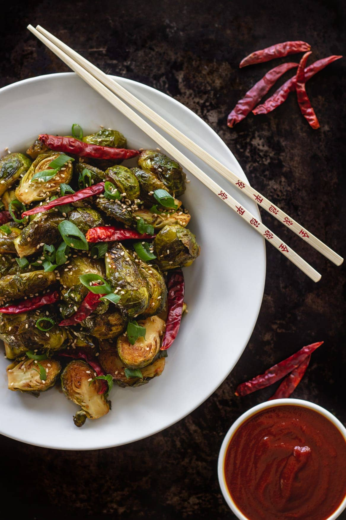 Keto Sweet Sriracha Brussels sprouts