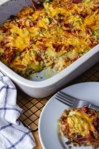 keto cheesy hamburger bake