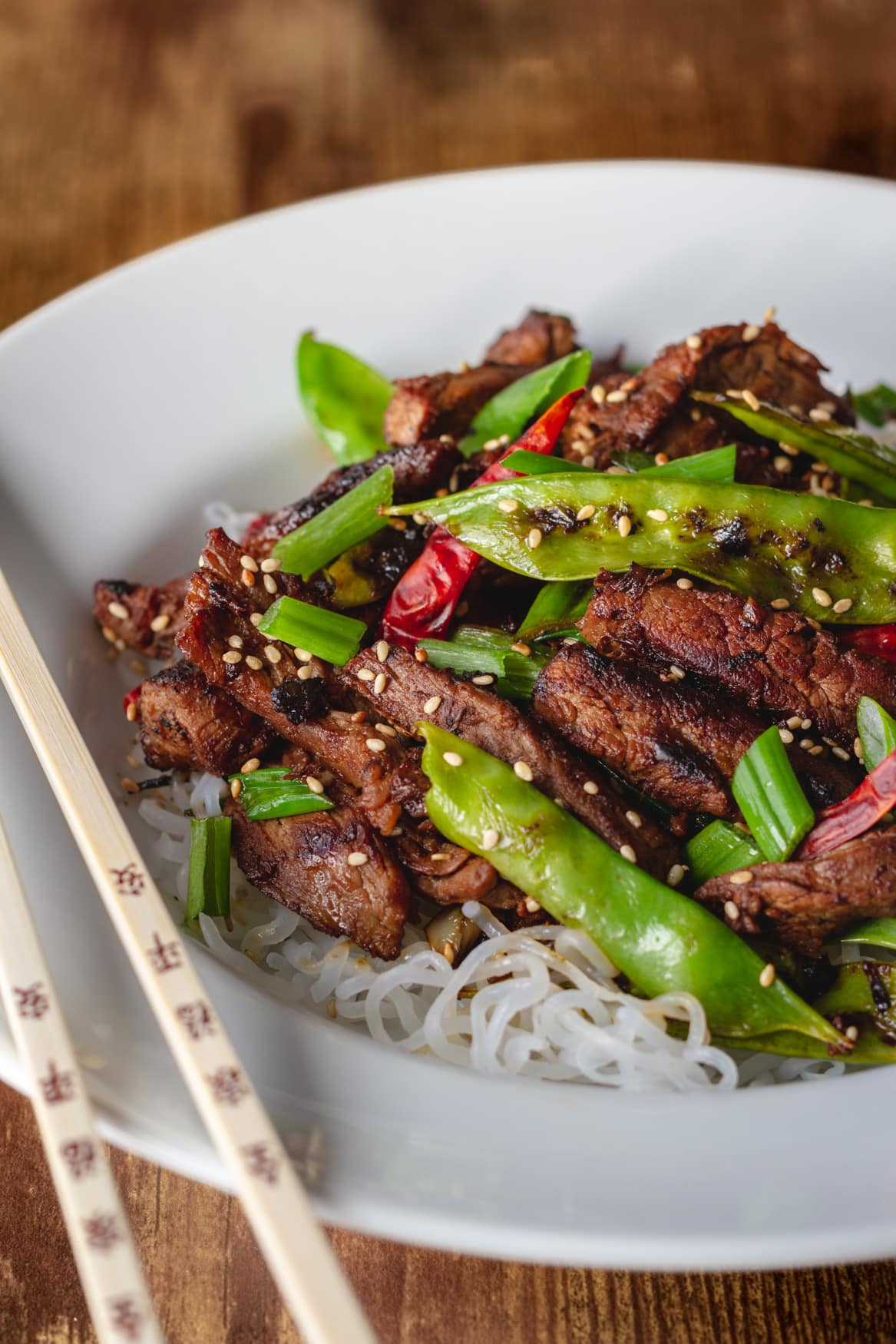 Keto spicy sesame beef