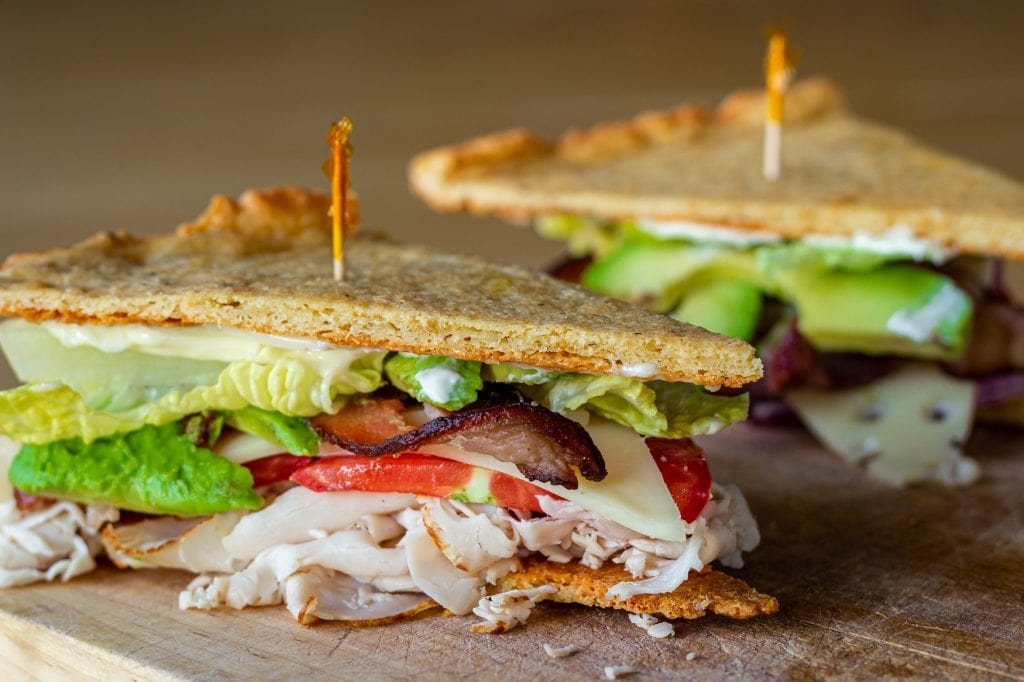 Turkey Avocado Sandwiches with Protein Flatbread